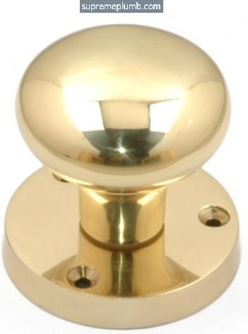 Victorian Mortice Knob HOT FORGED Polished Brass