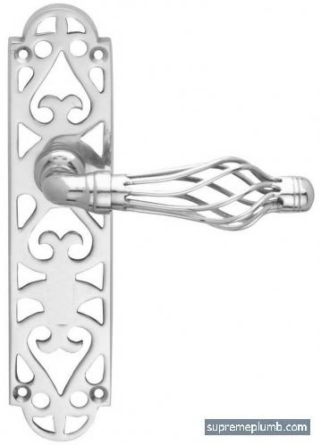 Jali Fretwork Lever Latch - Chrome Plated -  DISCONTINUED
