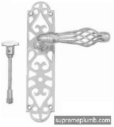 Jali Fretwork Lever Bathroom - Chrome Plated - DISCONTINUED
