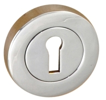 Escutcheons Lock Pair Chrome Plated