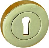 Escutcheons Lock Pair Polished Brass