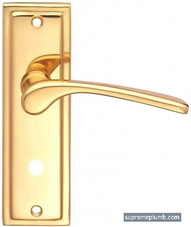Roma Lever Bathroom Polished Brass