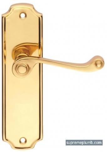 Florence Lever Latch Polished Brass