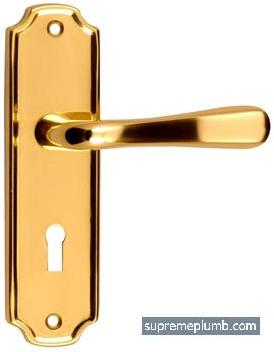 Vienna Lever Lock Polished Brass - DISCONTINUED