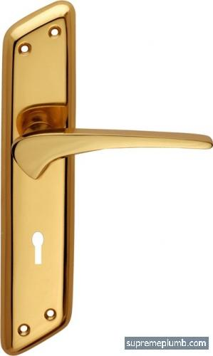 Jupiter Lever Lock Polished Brass