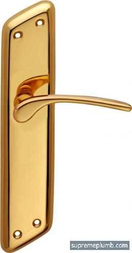 Saturn Lever Latch Polished Brass