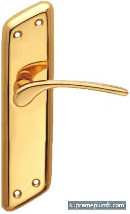 Mars Lever Latch Polished Brass