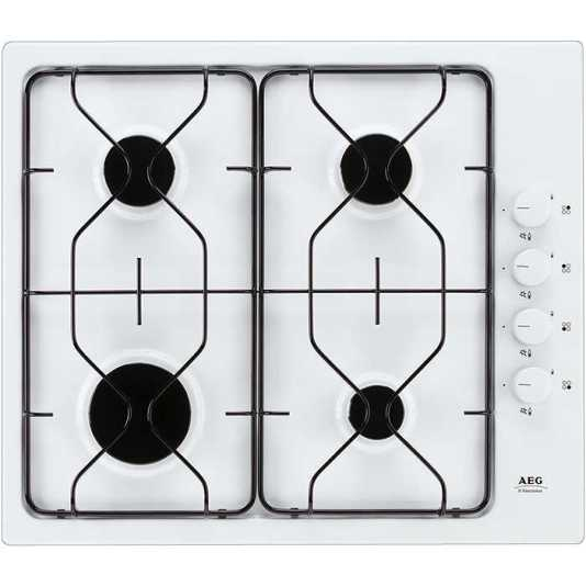 AEG 21602GW  White Gas Hob - DISCONTINUED