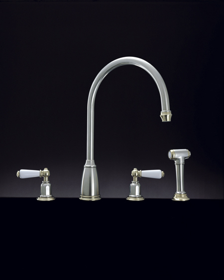 Athenian 3 Hole Sink Mixer with Lever and Rinse Ch C14300