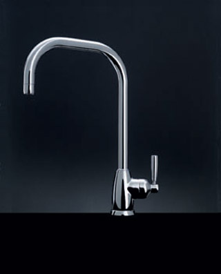 Mimas Single Lever Sink Mixer With U Spout Pewter C12347