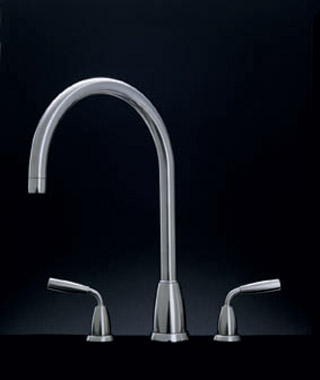 Titan 3 and 4 Hole Sink Mixer With C Spout Chrome C12366