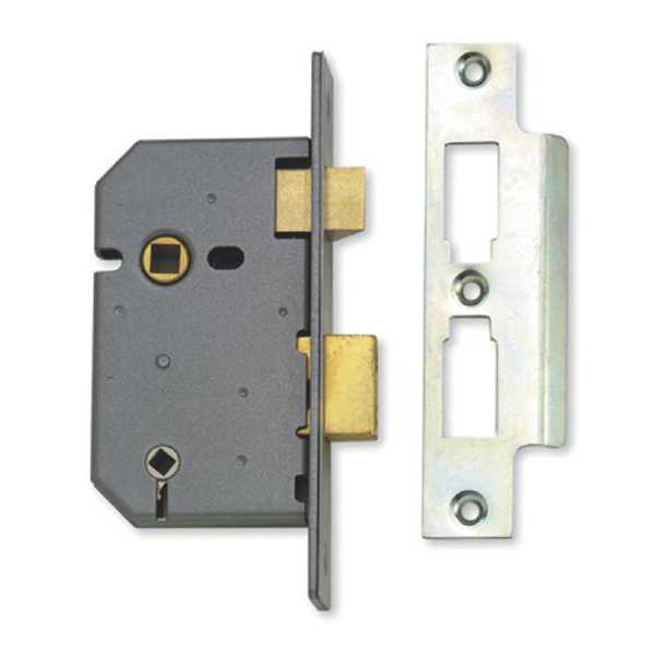 asec mortice bathroom lock 64mm polished brass bagged as1061 asec