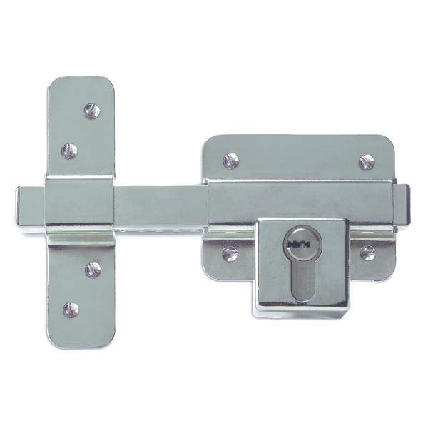 Ifam Cr19s Security Rim Door Lock Nickel Plated Kd