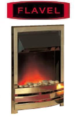 FLAVEL Arundel Contemporary (Electric Fire) - DISCONTINUED - Brass - 143851BS