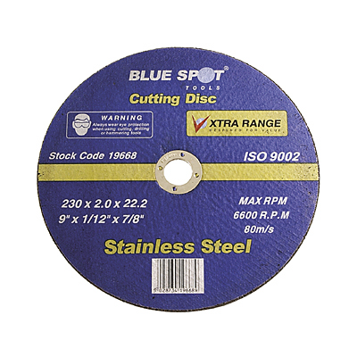 9 INCH STAINLESS STEEL CUTTING DISC - 19668