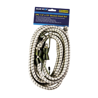 2PC 1/2 INCH X 72 INCH STRETCH CORD SET - 45451