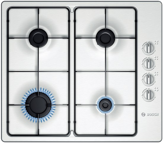 BOSCH PBP615B80E 60CM GAS HOB BRUSHED STEEL