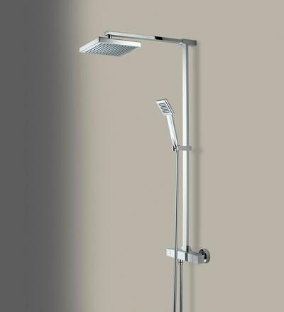 Bristan Quadrato Thermostatic Surface Mounted Shower Valve with Diverter and Fast Fix - QD SHXDIVFF C - QDSHXDIVFFC