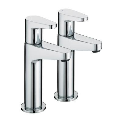 Bristan Quest High Neck Pillar Taps - QST HNK C - QSTHNKC