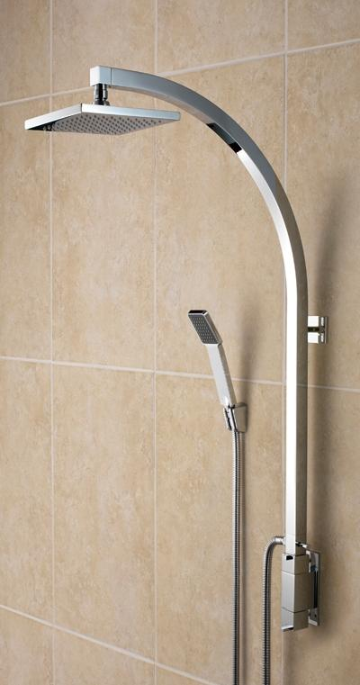 Bristan Qube Inline Vertical Shower Pole with Integral Diverter to Handset - QU VSHXSPDIV C - QUVSHXSPDIVC - SOLD-OUT!!