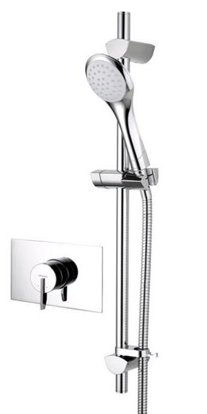 Bristan Sonqiue2 Thermostatic Recessed Mounted Shower Valve with Adjustable Riser Chrome - SOQ2 SHCAR C - SOQ2SHCARC