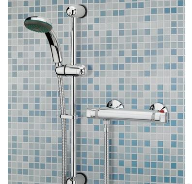 Bristan Solo Thermostatic Bar Shower valve With Adjustable Shower Kit - SO SHXAR C - DISCONTINUED - SOSHXARC