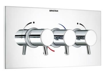 Bristan Prism 3 Control Thermo Recessed Valve Landscape - PM SHC3STPL C - PMSHC3STPLC - DISCONTINUED