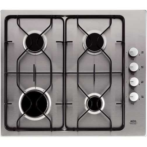 AEG 21602GM Gas Hob S/Steel - DISCONTINUED
