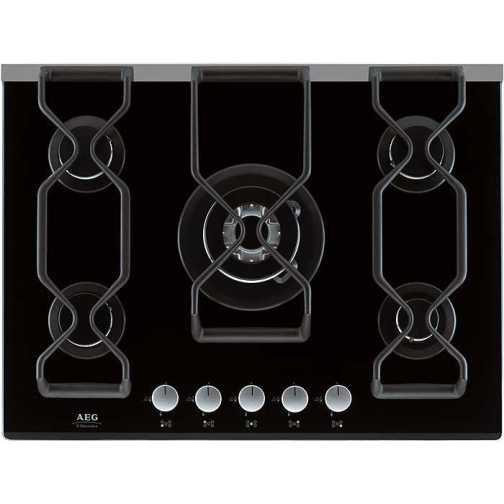 AEG 79852GA Gas Hob Black - DISCONTINUED