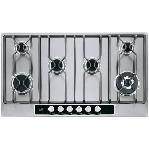 AEG 95852GM Gas Hob S/Steel - DISCONTINUED
