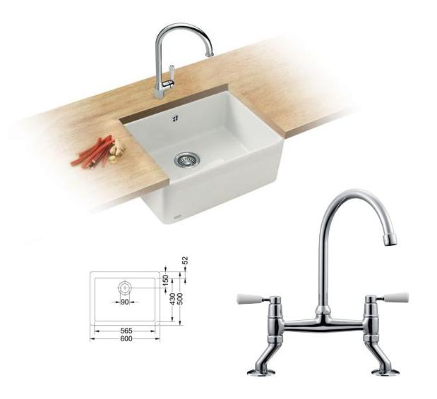 Franke Belfast Sink : Franke Belfast Ceramic Inset VBK 710 DP Sink Pro Pack