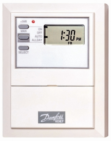 Danfoss 103E7 Electronic, 7 day or 5/2 day timeswitch