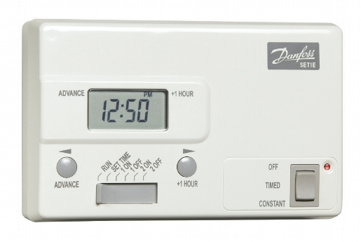 Danfoss SET1E Timeswitch 24 hour 2 on/off with boost - DISCONTINUED
