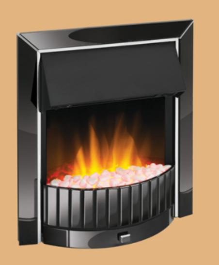 Dimplex Delius Inset Fire Black Nickel - DLS20BN-LED