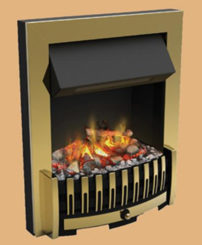 Dimplex Danville Opti-Myst Fire Brass - DNV20BR - SOLD-OUT!!