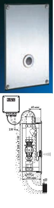 Tempomatic Recessed WC Wall Plate 320x200 - DD 463326