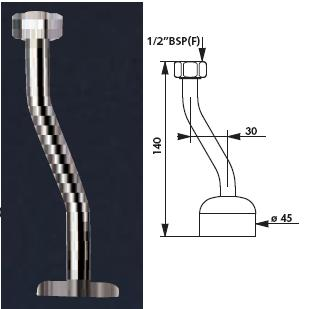 "Urinal Neck Tube 1/2"" BSP(F) Diameter ( ø ) 40 - DD 755000"