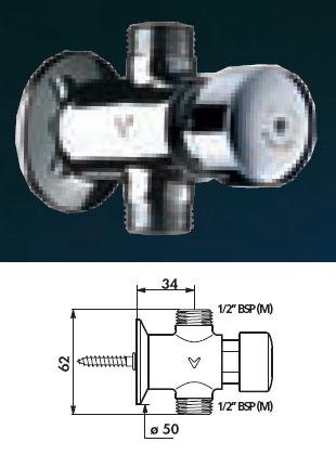 "TEMPOSTOP Urinal Valve, Straight 1/2"" BSP(MM) 7 (seconds) - DD 777000"