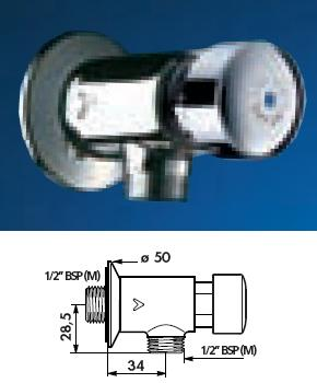 "TEMPOSTOP Urinal Valve Angled 1/2"" BSP(MM) 7 (seconds) - DD 778000"