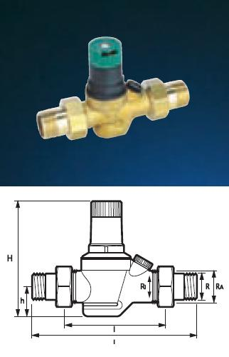 "Pressure Reducing Valve - 1/2"" PRV05 Light Commercial - DD 850215"