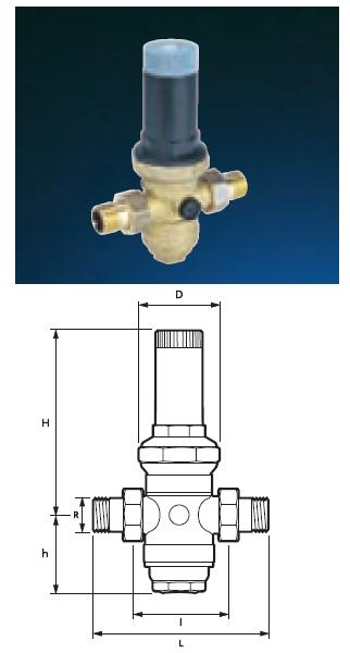 "Pressure Reducing Valve - 1/2"" PRV05LP Low Pressure Range - DD 855915"