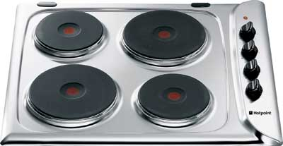 Hotpoint E604 Style Line 60cm Electric Hob in White - DISCONTINUED