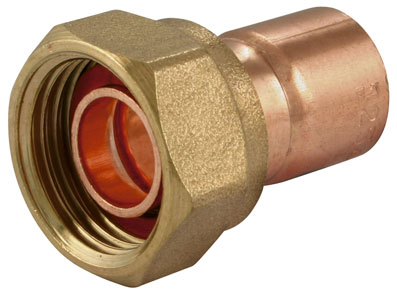 "15mm x 1/2"" End Feed Straight Tap Connector - EFSTC-15-12"