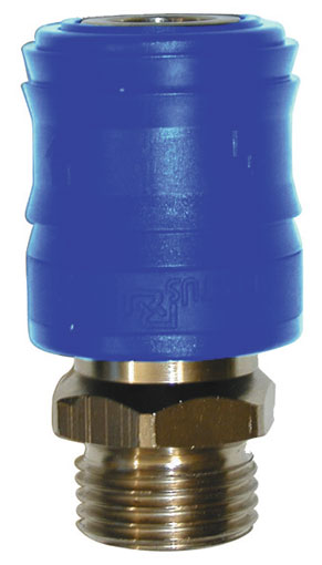 "1/4"" BSPP MALE COUPLING SELF VENTING - 26KEAW13MPN"