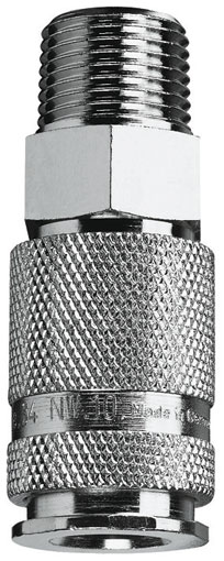 "3/8"" BSPP MALE COUPLING PLATED - 34KAAK17SPN"