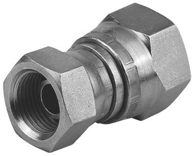 Burnett /& Hillman BSP Swivel Female x BSP Swivel Fem 90° Compact Elbow Adaptor