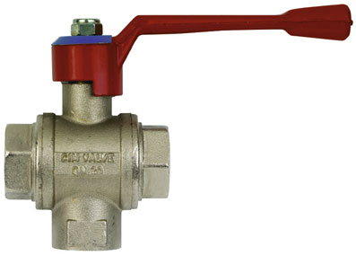 "1"" BSPP FEMALE DIVERTER 3 WAY L PORT VALVE - BV23-1"