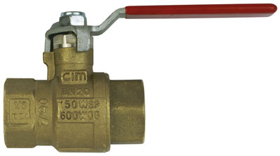 "1/2"" NPT FEMALE BRASS BALL VALVE - BV50-12NPT"