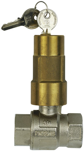 "1"" BSP FEMALE BRASS BALL VALVE LOCKING - BV77-1"