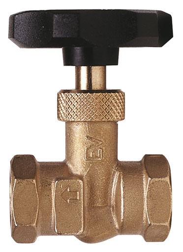 "1/8"" BSP FEMALE BRASS NEEDLE VALVE - EV-18"